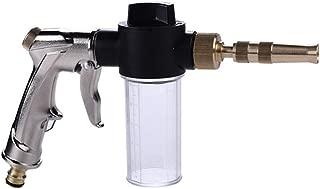 JKLcom Garden Hose Nozzle Foam Sprayer Garden Water Hose Snow Cannon Foam Nozzle Soap Dispenser Gun with 100cc Bottle,4 Spray Patterns Foam Blaster for Car Washing Plants Watering Pets Showering