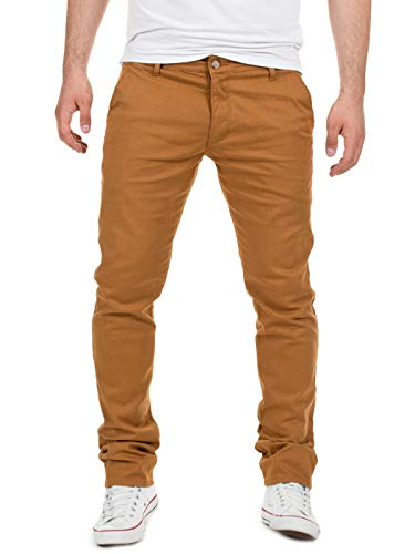 Yazubi Herren Chino Hose, Modell Dustin, Chinohose by Yzb Jeans, Camel (Otter 181018), W32/L30