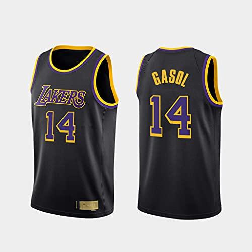 Ropa de Baloncesto para Hombre Los Ángeles Lakers 14# Gasol Bordada Chaleco sin Mangas Camiseta Unisex,M