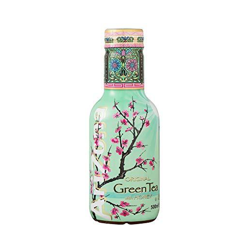 AriZona - Thé Vert Aromatisé au Miel - Boisson 100% Plaisir - Emballage Design - 1 Bouteille PET 500 ml