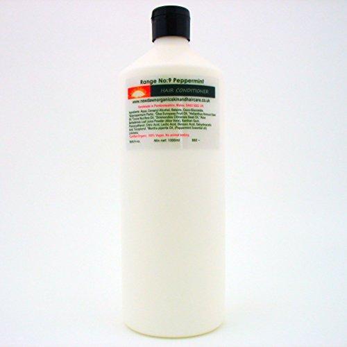 New Dawn Naturel Menthe poivrée Après-shampooing – 73% Bio   Vegan – Gamme N ° 9–25 ml/100ml/250Ml/Nettoyant pour Tailles