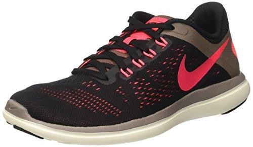 Nike Wmns Flex 2016 RN, Zapatillas de Running Mujer, (Negro/Rosa/Black/Hot Punch/Dark Mushroom/Sail), 41 EU