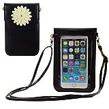 Kleine Handtasche mit Touchscreen, kompatibel mit iPhone Xs Max 8 Plus XR XS, LG V40 V35 V30S G8 G7 ThinQ, Stylo 3 2 G6, Blu A5 Energy Vivo XL4 8 für Reisen, Arbeit, Shopping, Small, schwarz