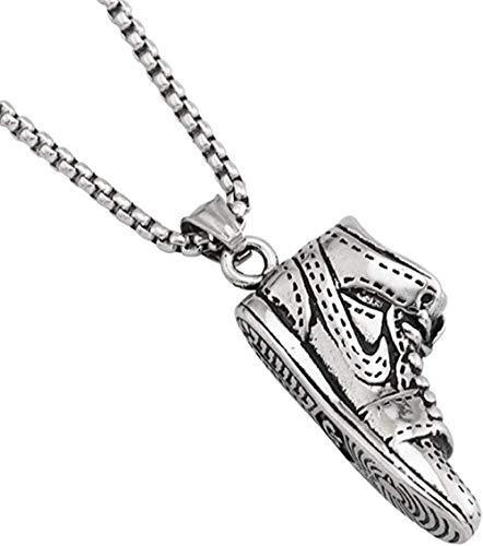 PPQKKYD Halskette Halskette Exquisite Damen Herrenschmuck Halskette Valentinstag Geburtstagsgeschenk Hip-Hop Basketballschuhe Halskette Titan Stahl Männer und Frauen pe