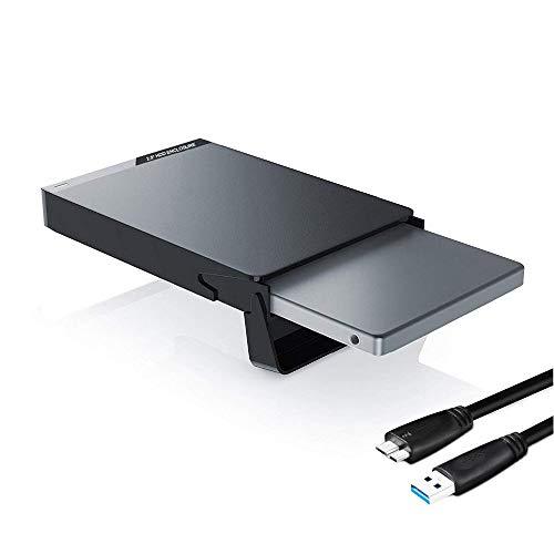 GeekerChip Case Esterno per Disco Rigido 2.5'(2020 Nuovo),Enclosure Hard Disk Esterno Box Caso SATA I II III con USB 3.0 Cavo,Strumento Gratuito Supporto UASP