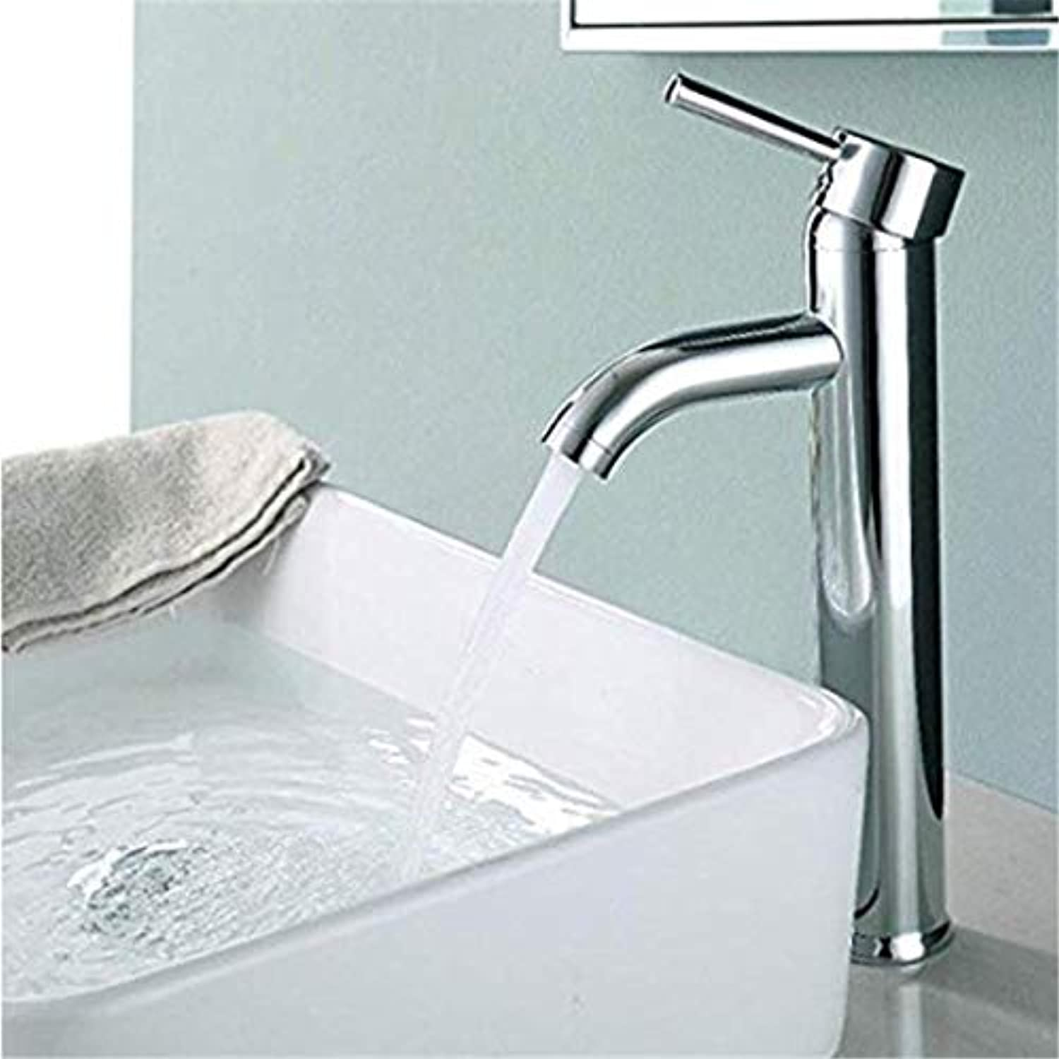 Bronze Basin Bathroom Faucet Faucet Chrome Finished Single Handle Single Hole Waterfall Stainless Steel Deck Inssizetion Sink Faucet