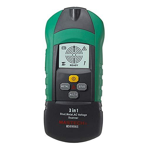 MS6906 3 en 1 Multifonction détecteur de métal en Bois Stud Thiness testeur de Tension AC Scanner jauge d'épaisseur Industrielle