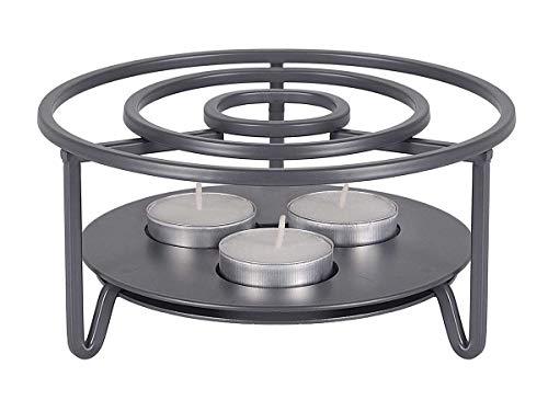tea4chill Stövchen/Teewärmer aus Metall für 1-3 Kerzen