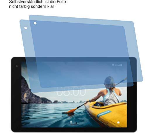 4ProTec I 2X Crystal Clear klar Schutzfolie für MEDION LIFETAB P10610 P10612 Bildschirmschutzfolie Displayschutzfolie Schutzhülle Bildschirmschutz Bildschirmfolie Folie