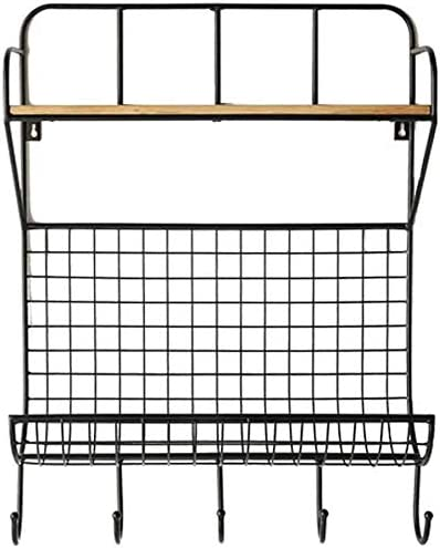 DNSJB Partition Wrought Iron Storage Mount Displ Wall Max 71% OFF Our shop OFFers the best service Black Rack