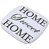 Lumanuby. 1x Machinewaschbar Sitzkissen Dünn aus Flannel mit Wort Als 'Home Sweet Home' Deko...