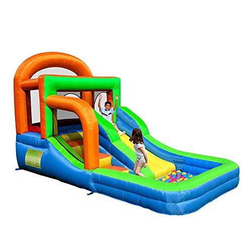 FZ FUTURE Navidad Inflable casa de la Despedida para los niños, Salto y Slide Gorila Castillo Centro de Actividades para niños Soplador, Kit de reparación, Trampolín, Splash Pool Sube Wall