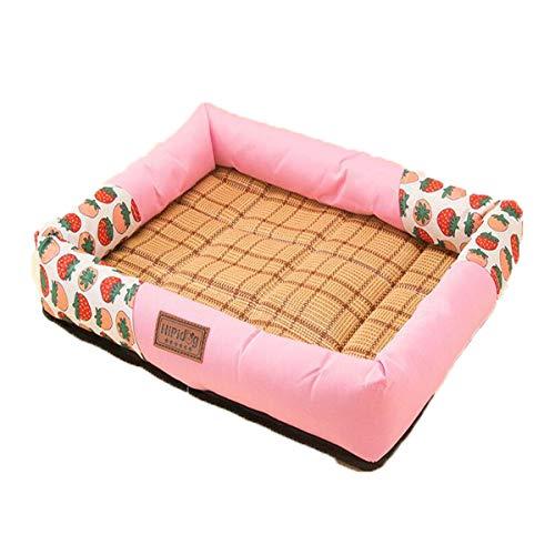 Chenjinxiang01 Hundebett Ice Pad, EIS-Seide Matratze, Katzenabstreifer, Hundebett ultraflach, wasserfeste gepolsterte Matratze, Klimaanlage Luftbett