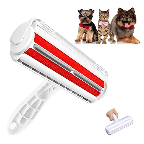 Pet Hair Remover Roller, Pet Hair Remover for Couch, Pet Hair Remover Brush with Self-Cleaning Base, Remove Dog, Cat Hair from Furniture, Carpets, Bedding, Clothing and More