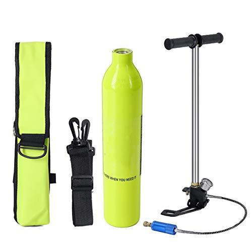 Lixada SMACO 1L Cilindro de Ox/ígeno de Buceo Botella de Respirador de Buceo Snorkel 15-20 Minutos Bajo Agua