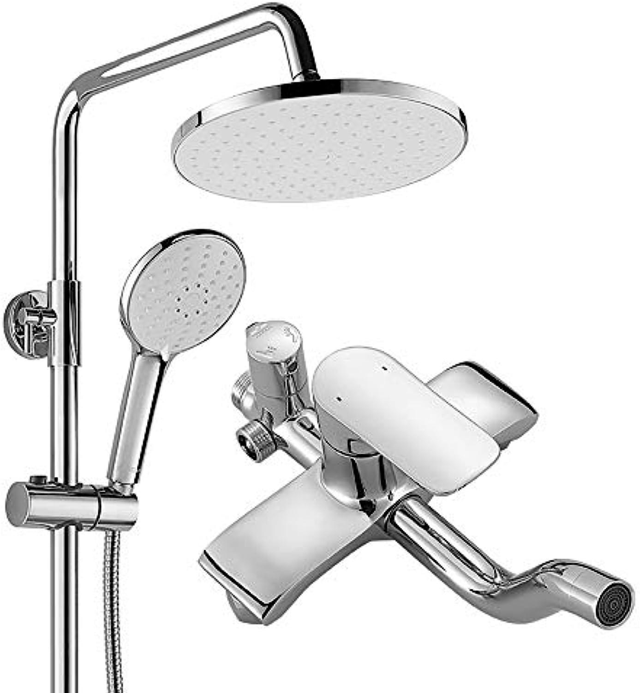 Duschset Spritzpistole Duschbrause aus Kupfer Handbrause Badezimmerlifting Geeignet für Hotels, Schlafsle, Wohnungen und Bder