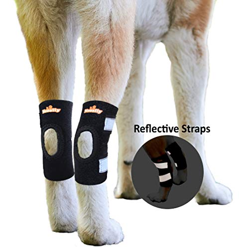 NeoAlly Large Dog Braces Canine Rear Leg Hock Support with Safety Reflective Straps for Hind Leg...