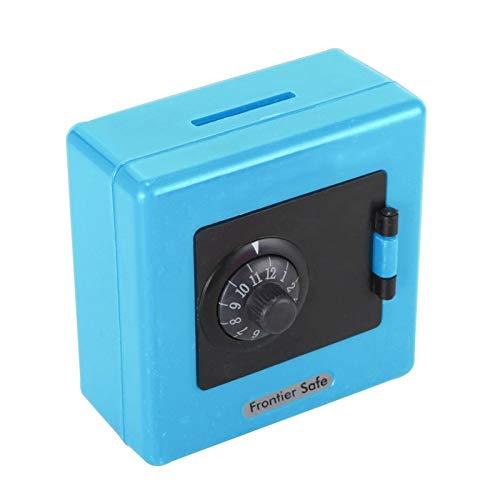 Salvadanaio 1pcs Combinazione serratura moneta moneta risparmio di stoccaggio salvataggio codice cassa in contanti cassaforte custodia salvadanaio bambini giocattolo scatole di soldi ( Color : Blue )