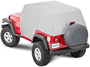 MasterTop 11110009 |Jeep Wrangler Full Door Cab Cover Made with Durable Vinyl and Paint Pampering Soft Interior|Gray|Fits 1992-2006 Jeep YJ and TJ Wrangler|With Soft Top or HardTop Removed