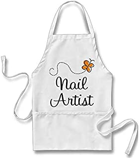 Goodaily Pretty Nail Artist Gift Adult Apron One Size Fit Most