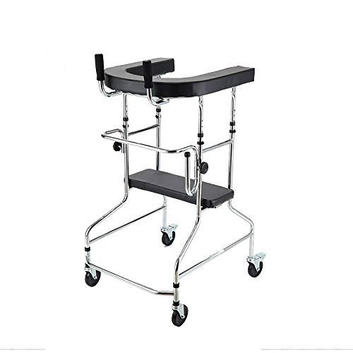 BXU-BG Rollatoren Erwachsene Walker Ältere Rollator Stehen Rahmen Rehabilitation Equipment Anti-Rutsch-Spazierstock mit Krankenhaus