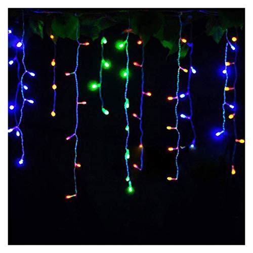 ZQYBH 4.6m LED Christmas Light Outdoor Garland Garland String Fairy Light Street Icicle Tenda Drop 0.4-0.6m Giardino Home Deco 110-220V (Color : RGB, Size : 220V EU)
