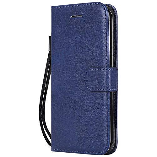 DENDICO Cover Galaxy S6 Edge Plus, Premium Portafoglio PU Custodia in Pelle, Flip Libro TPU Bumper Caso per Samsung Galaxy S6 Edge Plus - Blu Navy
