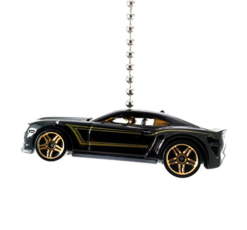Hot Wheels Chevy Camaro Diecast Ceiling Fan Light Pull Ornaments 1/64 scale (2013 Camaro Special Edition Black Gold) -  CTR Customs