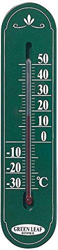 エンペックス気象計 温度計 グリーンリーフ温度計 壁掛け用 日本製 グリーン TG-6643