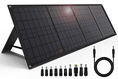 CHAFON 40W Portable Solar Charger,Camping Foldable Panel with 18V DC Output for Power Station Generator,Laptop,QC 3.0 12V USB Port Compatible Tablet GPS Camera iPhone Xs/iPad/Galaxy S9