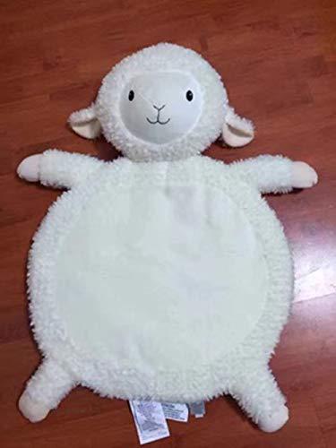 Uni-Wert Kinder Teppich Plüsch Cartoon Tier Schafe Kinderteppich Spielteppich Weiche Kinder Baby Spielmatte Runde Kriechmatte Krabbeldecke für Schlafzimmer Kinderzimmer Aktivität Spielzelt Dekoration