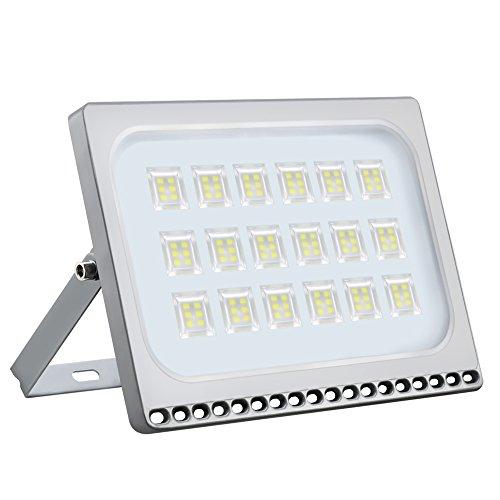 Haske 100W LED Fluter, 10000LM Kaltweiß 6000K Außenleuchte LED, IP65 Wasserdicht LED Strahler Außen Super Helle, Flutlichtstrahler für Garten Garage Sportplatz Parkplatz Vorplatz