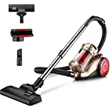 Vivian Yang Cylinder Vacuum Cleaner,1400W Cyclonic Powerful Pet Carpet Floor Electric Sweeper 7.5M Cleaning Radius 4 Stage Cyclonic Filtration Carpet and Hard Floor Cleaner