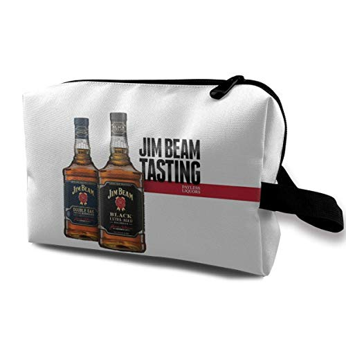Jim Beam Anime Travel Cosmetic Bag Makeup Bags for Women Small Makeup Pouch Travel Bags for Toiletries