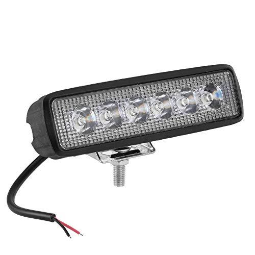 KIMISS Combo Barra de luces LED, DC12V 6 LED Luz de trabajo Luz antiniebla de conducción Luces de circulación diurna a prueba de golpes para luces de modificación de automóviles, Faros de vehículos to