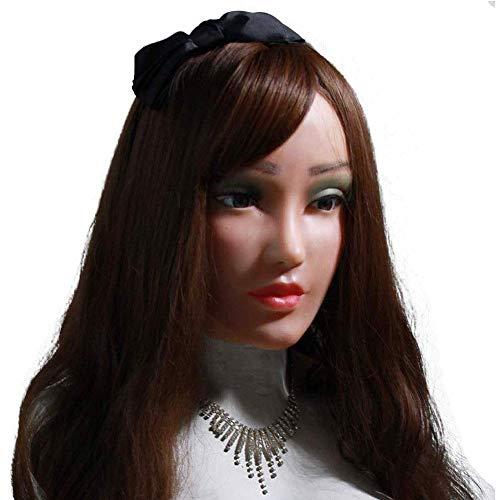 JYJYJ Silikon-Maske Weiblich Realistisch Gesicht DWT Cosplay Masquerade Transen Transgender-Halloween-Kostüm
