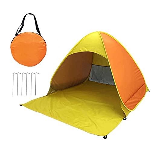 SZTUCCE Tienda de Playa emergente UV Tienda de Refugio de Sol con Clavijas y Bolsas de Almacenamiento Camping Refugio de Camuflaje Nets Car Tent (Color : Yellow)