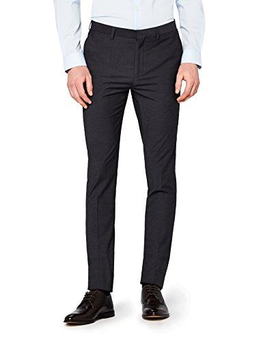 Marca Amazon - find. Pantalón de Traje Ajustado Hombre, Gris (Char), 34W / 31L, Label: 34W / 31L