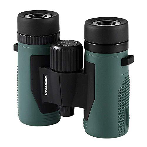 Wingspan Optics NatureSport 8X32 Waterproof Compact Binoculars for Bird Watching. Ultra-Lightweight,...