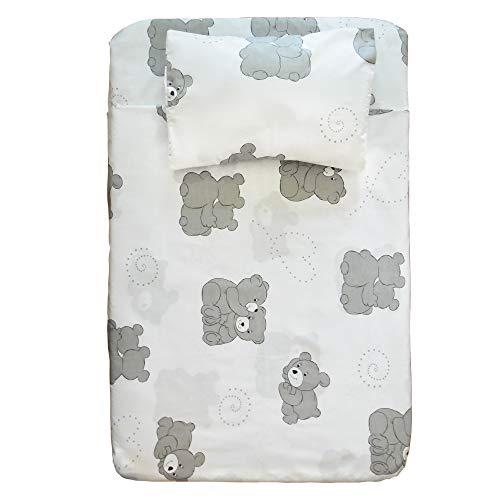 Cangoo - Juego de sábanas de 4 piezas para cochecito de bebé, cuna Cosleeping, Next2Me, 100% algodón, 2 sábanas con esquinas, 1 sábana encimera, 1 funda de almohada