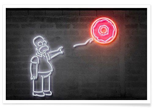 Juniqe® Affiche 80x120cm Pop Art Street Art - Design Donut Balloon (Format : Paysage) - Poster, Tirages d'art & Tableaux par des Artistes indépendants créé par Octavian