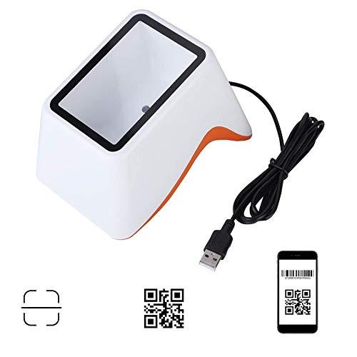 Barcodescanner, desktop 1D 2D QR-code barcodelezer scanner USB-schermscanplatform voor supermarkt, catering, kassa-apparatuur, Alipay-ondersteuning, WeChat-betaling