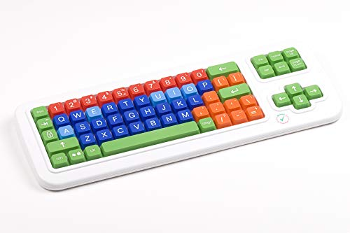 Clevy Color Coded Bluetooth Wireless Keyboard, Large Letters and Colorful Keys - 102916