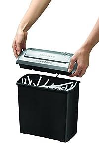 Fellowes Trito 2S - Destructora trituradora de papel, corte en tiras, 5 hojas, color negro