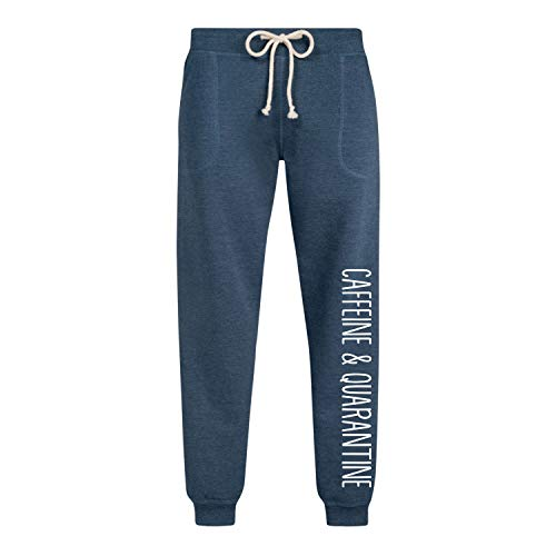 Instant Message Caffeine and Quarantine - Ladies Jogger Pant Heather Indigo