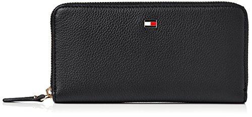 Tommy Hilfiger Damen Basic Leather Lrg Za Wallet Geldbörse, Schwarz (Black), 2x11x11 cm