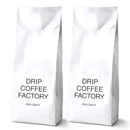 リッチ ブレンド コーヒー 粉 中挽き 1kg ( 500g × 2袋 ) 珈琲 | ドリップコーヒーファクトリー