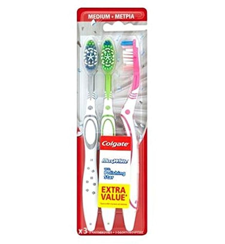 可動最も意味するColgate Max White Triple Pack toothbrush - コルゲートマックスホワイトトリプルパック歯ブラシ (Colgate) [並行輸入品]