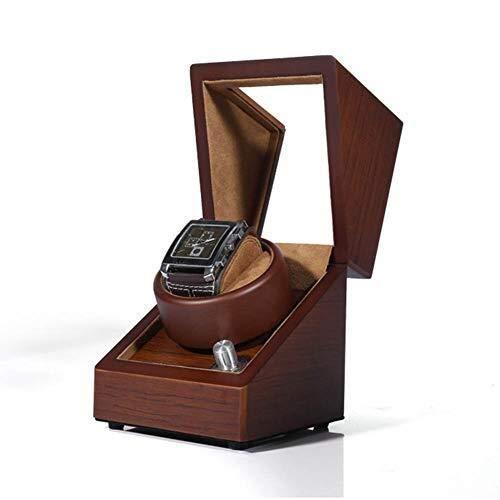 HUAHUA Watch Bander Box Sola rotación automática devanaderas de visualización hecho a mano del registro de los modos 5 Corteza con el bloqueo de piano pintura Modo de suministro de energía Negro Brill