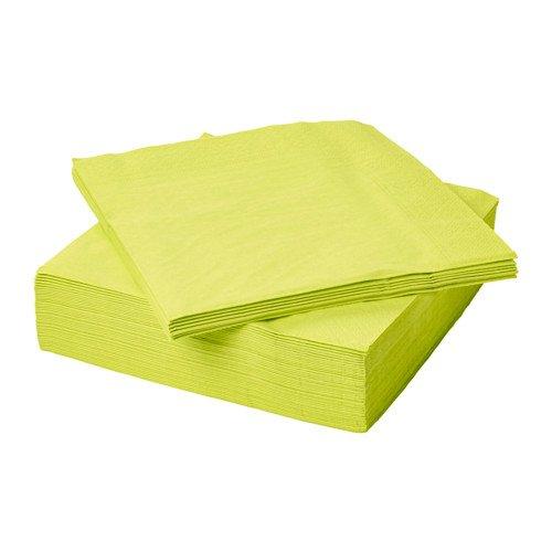 Unbekannt IKEA 50-er Set Papierserviette Fantastisk saugstarke Servietten in 40x40cm - 3-lagig - HELLGRÜN/Limette